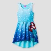 Disney Girls' The Little Mermaid High-Low Dress - Aqua