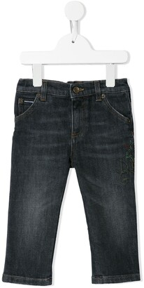 Dolce & Gabbana Kids Embroidered Logo Jeans