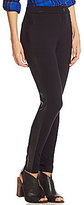 Intro Double Knit Faux-Leather Side Detailing Legging