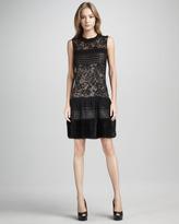 Diane von Furstenberg Alty Astra Novelty Mixed-Media Dress
