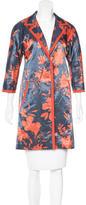 Etro Linen Printed Coat