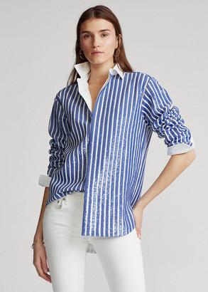 Ralph Lauren Sequin-Stripe Shirt