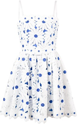 Alice + Olivia Flower Applique Sun Dress