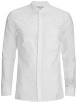 Helmut Lang Whisper Seersucker Bomber Shirt Optic White