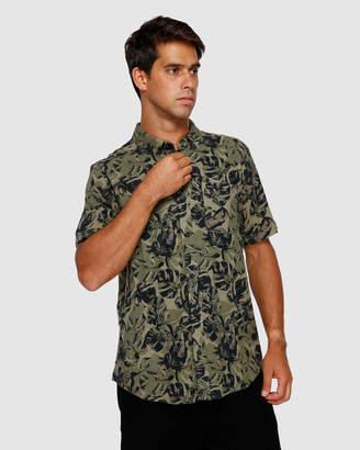 RVCA Leaf Camo Short Sleeve Shirt