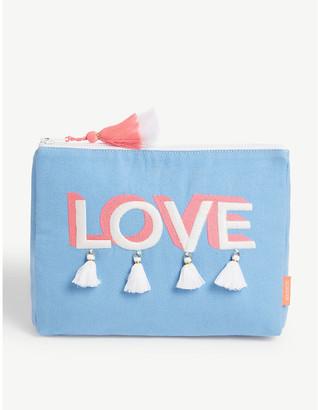 Love slogan-print wash bag