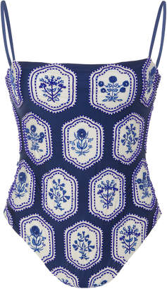 Agua Bendita Agua By Nativa Beaded Embroidered Swimsuit