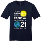 21st Birthday Gifts For All Nerd 21 Sidereal Years Young Mens T-Shirt NwNvy