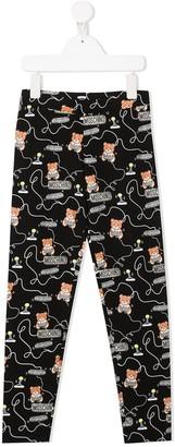 MOSCHINO BAMBINO TEEN teddy bear gamer leggings