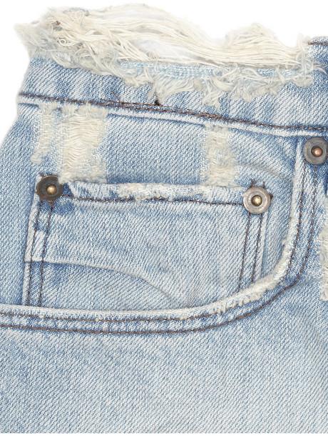 Ksubi Alberceque distressed denim shorts
