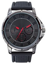 Mossimo Men's Analog Watch with Decorative Dials and Rubber Straps - Black