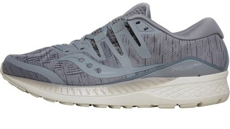 Saucony Mens Ride ISO Neutral Cushioned Running Shoes Grey Shade