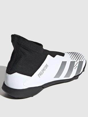 adidas Junior Predator Laceless 20.3 Astro Turf Football Boot - Black