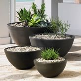 west elm Grooved Bowl Planters