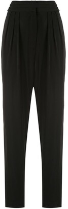 Andrea Marques Pleated Tapered Trousers
