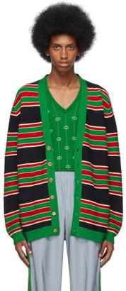 Gucci Navy Striped Cardigan