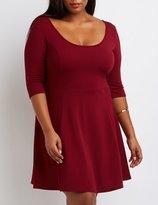 Charlotte Russe Plus Size Textured Skater Dress