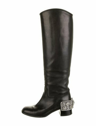 Chanel 2007 Paris-Monte Carlo Riding Boots Black