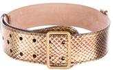 Alexander McQueen Metallic Snakeskin Belt