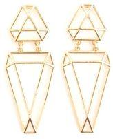 Charlotte Russe Caged Geometric Drop Earrings