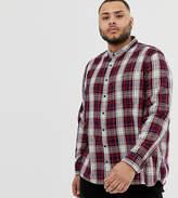 Burton Menswear Big & Tall shirt in burgundy check