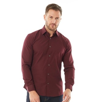 French Connection Mens Formal Plain Cut Long Sleeve Shirt Chateaux