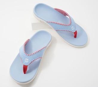 Spenco Orthotic Thong Sandals - Yumi Gingham