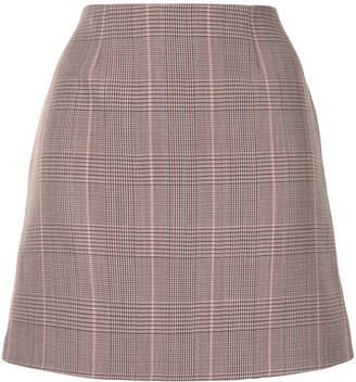 Paule Ka Glen Plaid Mini Skirt