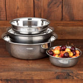 Heavy-Duty Stainless Steel Mixing Bowls, Set of 4