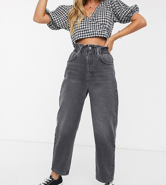 Reclaimed Vintage inspired The '96 mom jean with gathered high waist