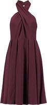 Halston Halterneck crepe mini dress