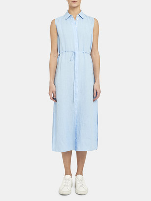 Theory Sleeveless Maxi Shirt Dress