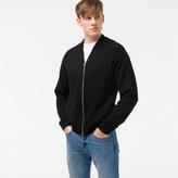 Paul Smith Men's Black Merino Wool Zip-Front Cardigan