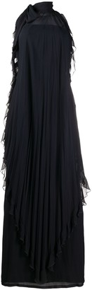 Valentino Pre-Owned Halterneck Ruffle Dress