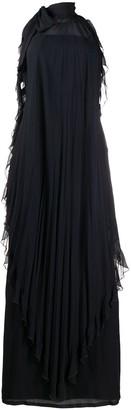 Valentino Pre Owned Halterneck Ruffle Dress