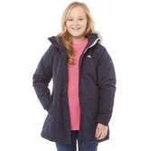 Trespass Girls Fame Insulated Waterproof Parka Jacket Navy
