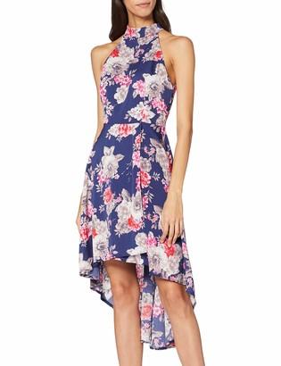 Yumi Women's DRES Hi-Low Midi Asymmetrical Sleeveless Dress