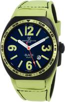 Montres de Luxe Men's BK2503 Avio Aluminum PVD Green Leather Cuff Watch