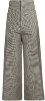 Jacquemus Hound's-tooth wool-blend cropped trousers