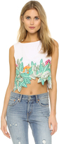 Mara Hoffman Leaf Embroidery Crop Top