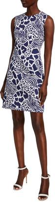 Adam Lippes Animal Print Sheath Dress