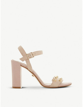 Dune Myth 2 studded suede heeled sandals