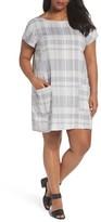 Eileen Fisher Plus Size Women's Plaid Organic Shift Dress