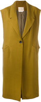 Erika Cavallini - loosely tailored sleeveless coat - women - Linen/Flax/Cupro - 38