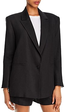 Alice + Olivia Denny Notch Collar Boyfriend Blazer