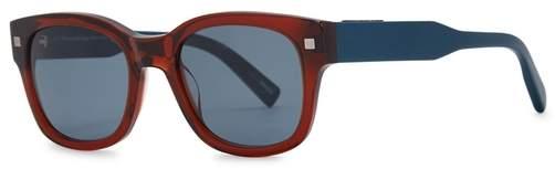 Ermenegildo Zegna Two-tone Wayfarer-style Sunglasses