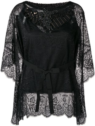 Antonio Marras Embellished Lace Blouse