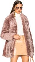 A.L.C. Lamb Shearling Stone Coat in Pink.