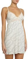 Eberjey Stargazing Stretch-Knit Chemise, Lunar Gray