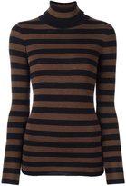 Laneus striped turtleneck jumper
